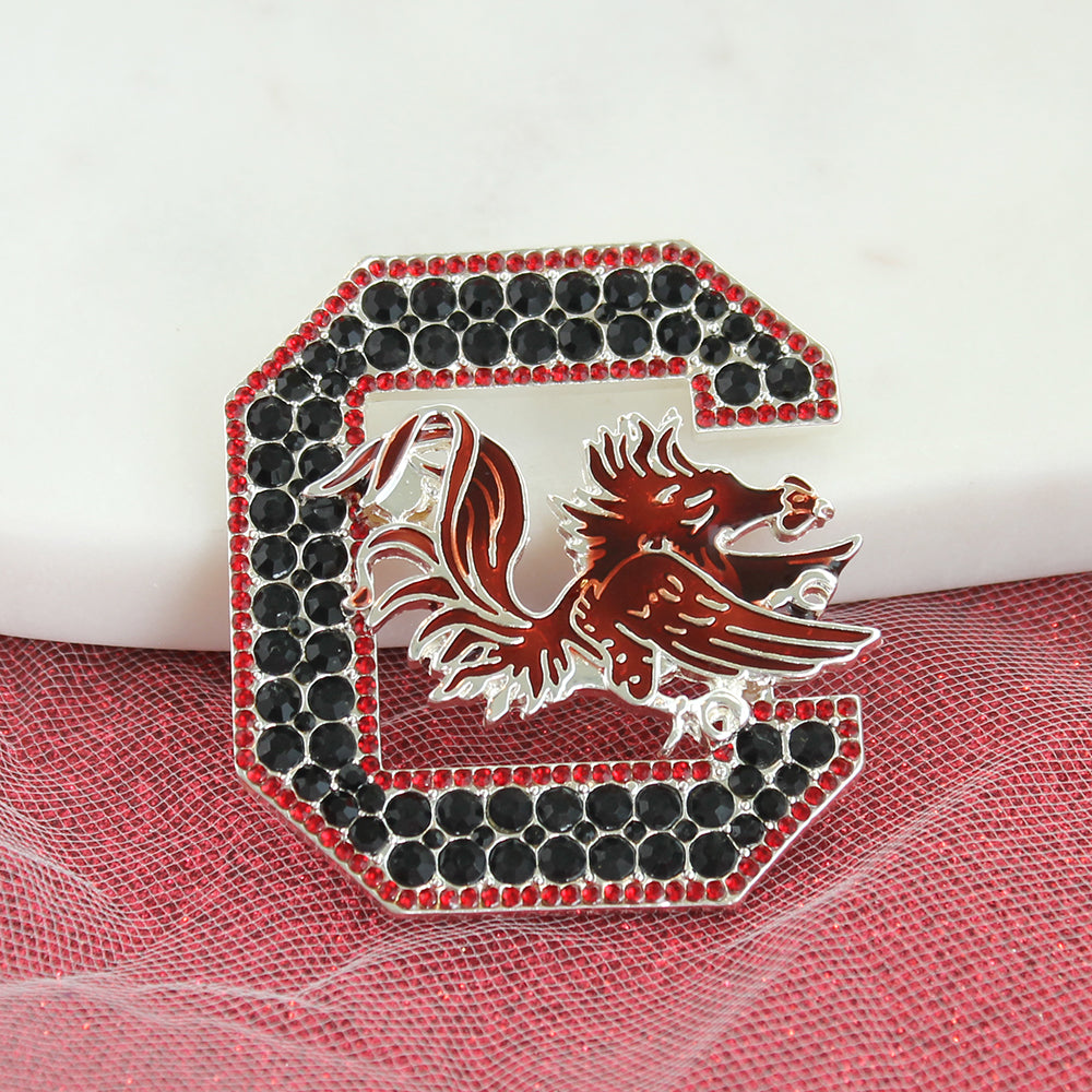 South Carolina Crystal Logo Pin