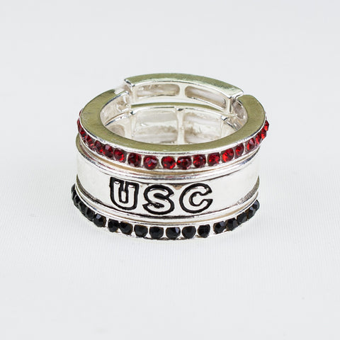South Carolina Stackable Stretch Ring Trio Set