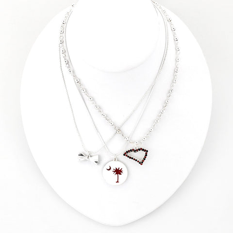 South Carolina Traditions Trio Necklace