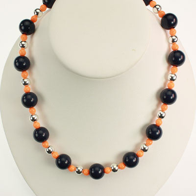 Seasons Jewelry Illinois Beaded Stretch Necklace