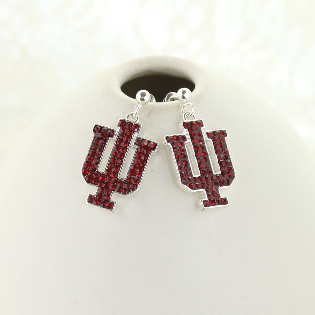 Indiana Crystal Logo Earrings