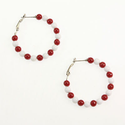Seasons Jewelry Indiana Beaded Hoop Earrings