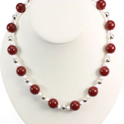 Seasons Jewelry Indiana Beaded Stretch Necklace
