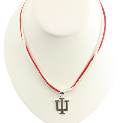 Seasons Jewelry Indiana 16 inch Silver Logo Necklace