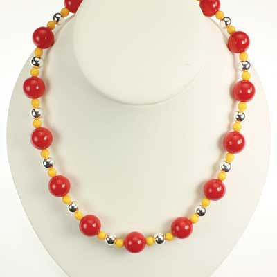 Seasons Jewelry Iowa State Beaded Stretch Necklace