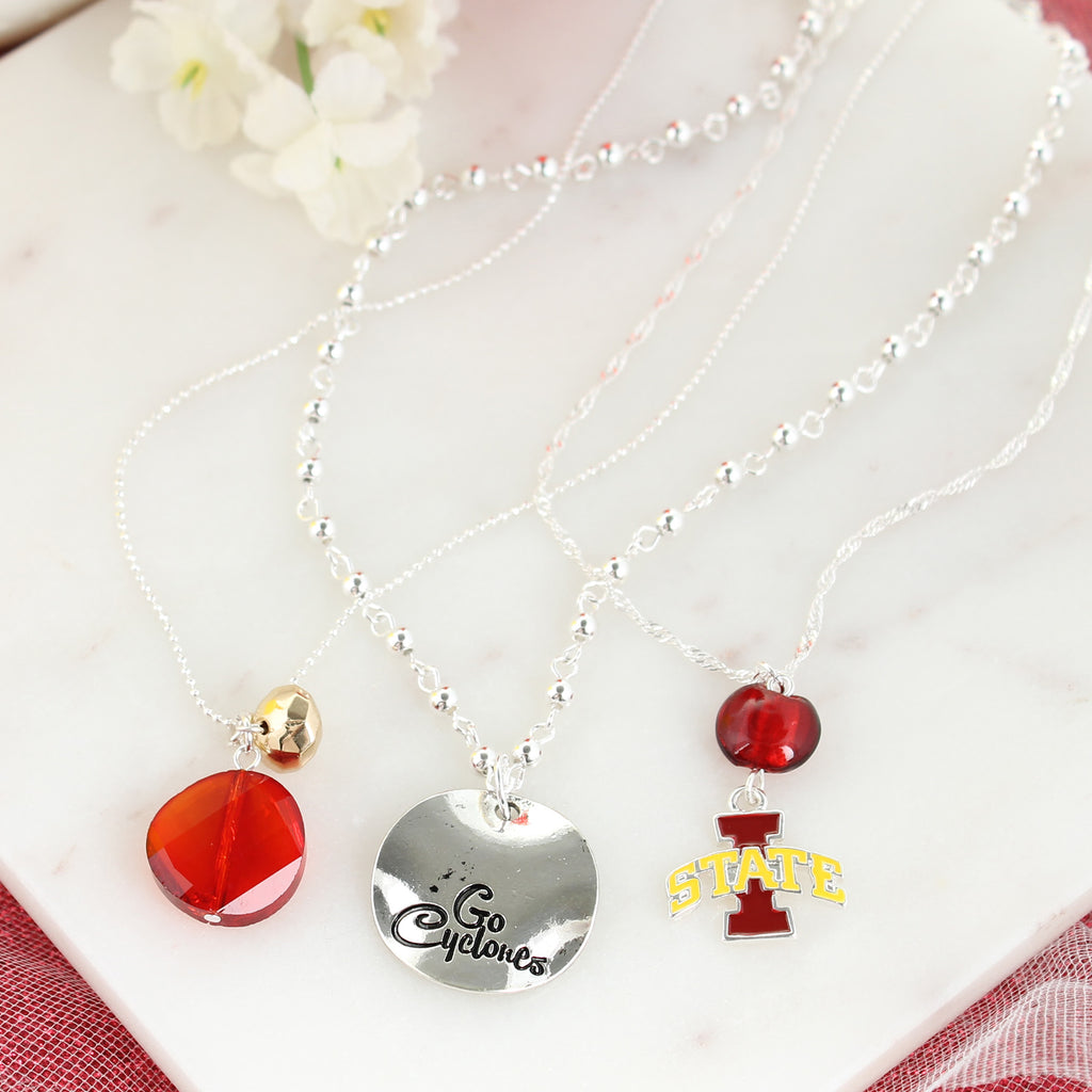 Iowa State Trio Necklace Set