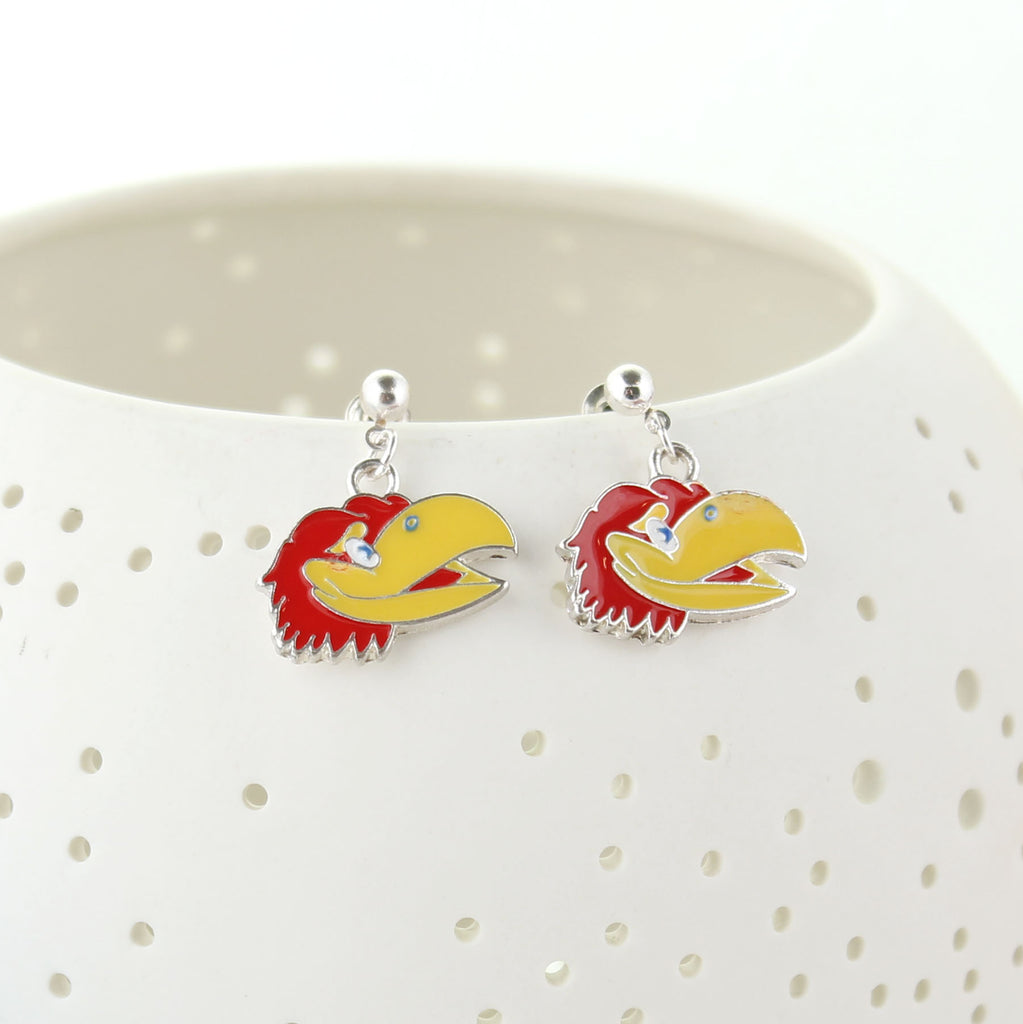 Kansas Enamel Logo Earrings