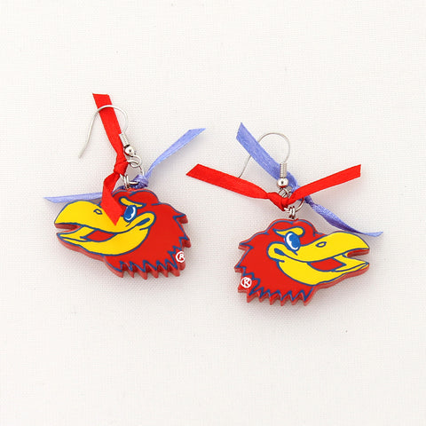 Kansas Painted Wood with Ribbon Earrings