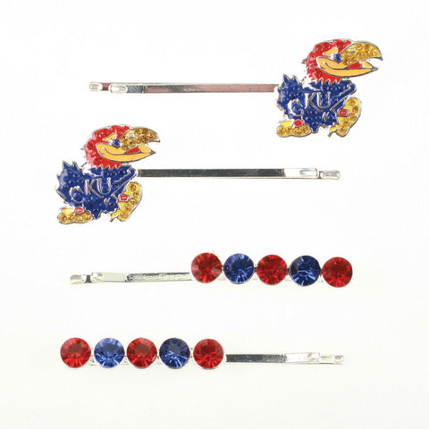 Seasons Jewelry Kansas Crystal Logo Hair Pin Set