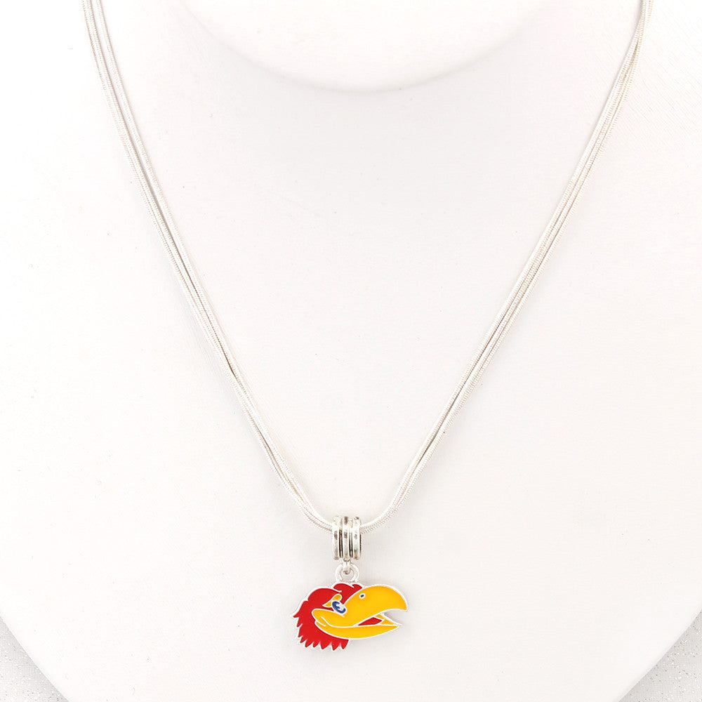 Kansas Enamel Logo Necklace