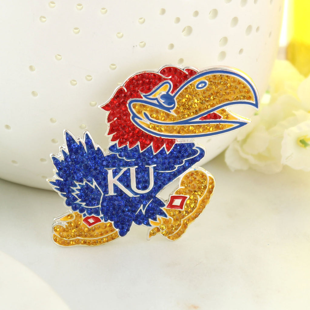Kansas Crystal Logo Pin