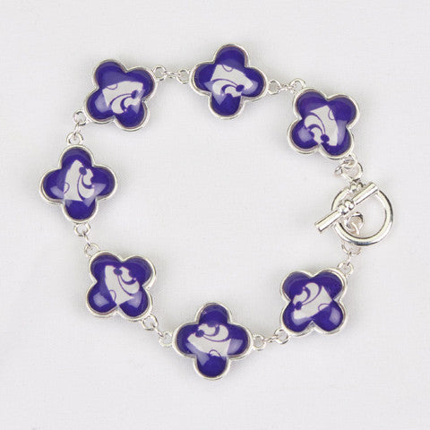 Seasons Jewelry Collegiate Kansas State Quatrefoil Bracelet