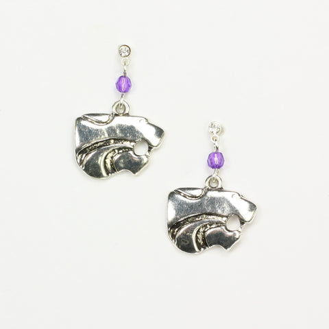 Kansas State Logo Earrings