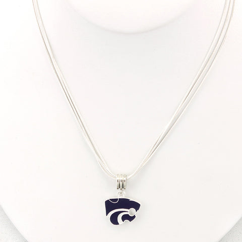Kansas State Enamel Logo Necklace