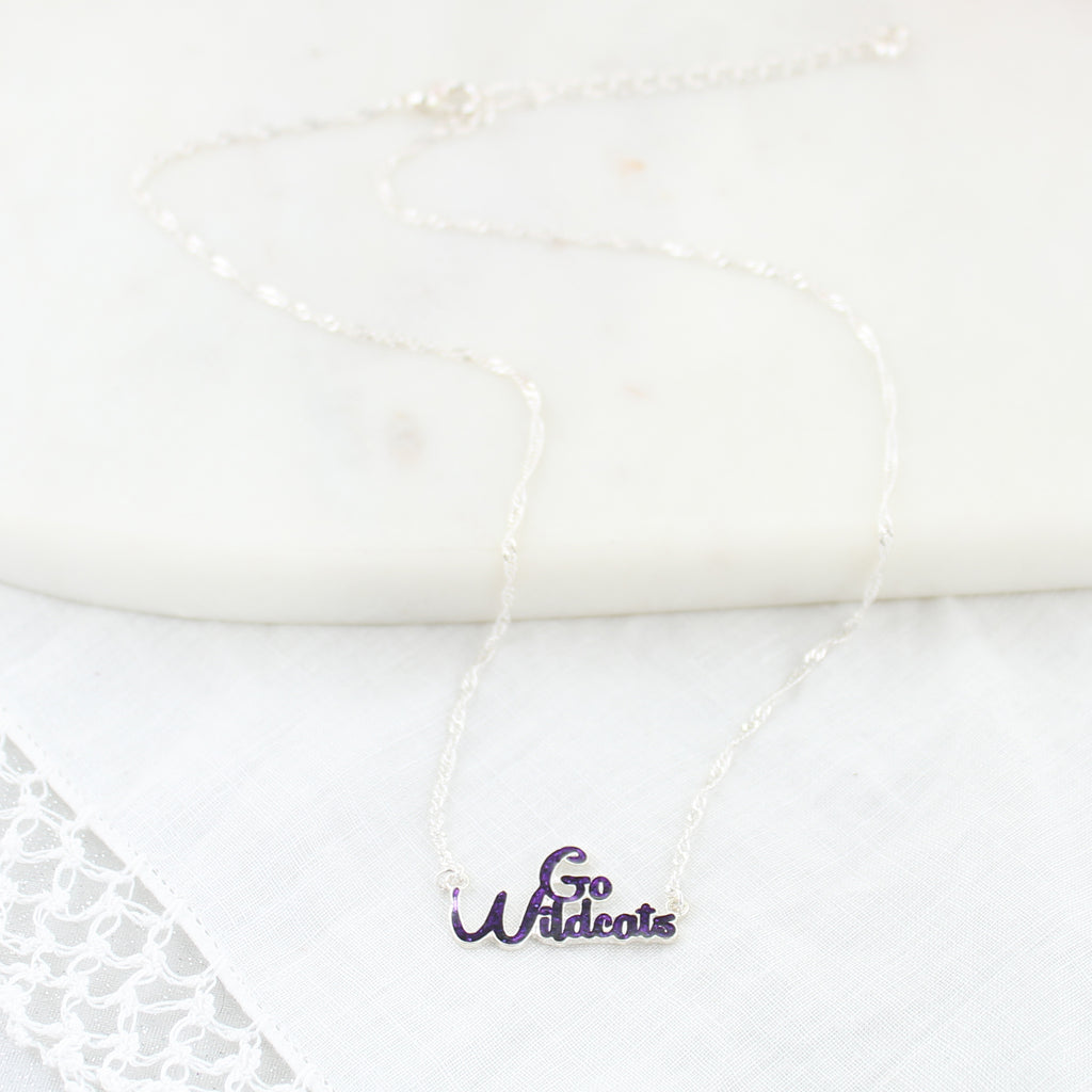 Kansas State Slogan Necklace