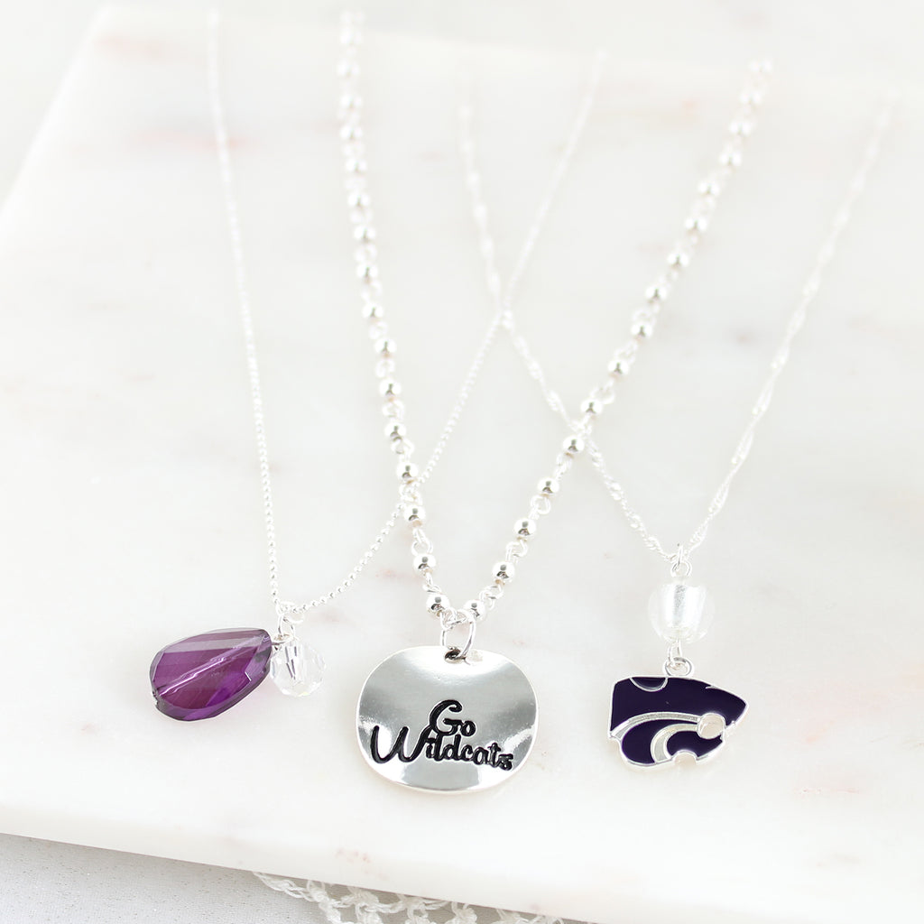 Kansas State Trio Necklace Set