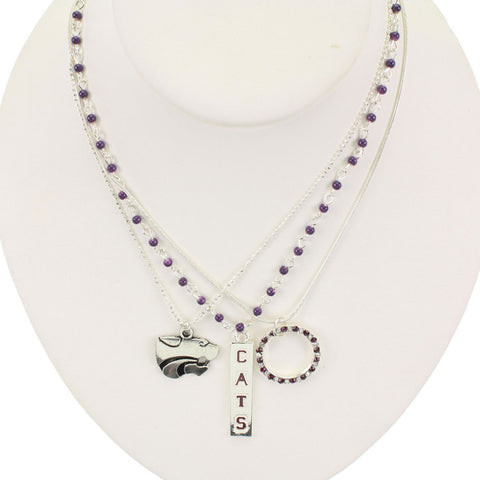 Seasons Jewelry Kansas State Trio Necklace