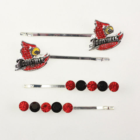 Seasons Jewelry Louisville Crystal Logo Hair Pin Set