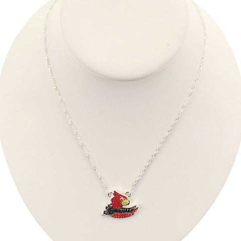 Seasons Jewelry Louisville Crystal Logo 17 inch Necklace
