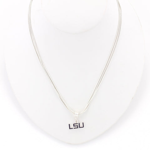 LSU Enamel Logo Necklace