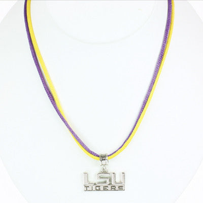Seasons Jewelry LSU 16 inch Necklace
