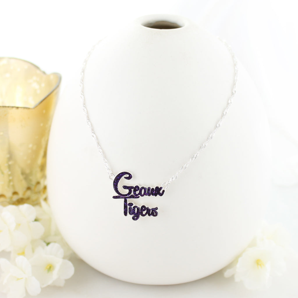 LSU Slogan Necklace