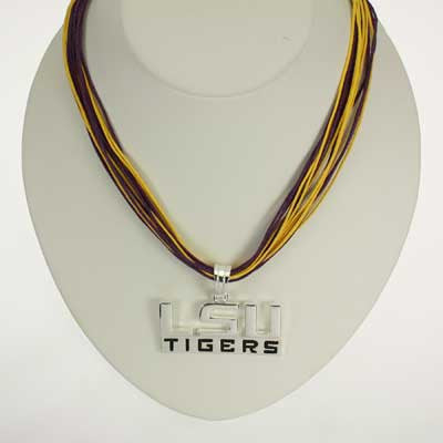 Seasons Jewelry LSU Logo Multi-Cord 18