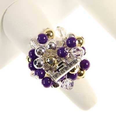 Seasons Jewelry LSU Logo Bauble Ring
