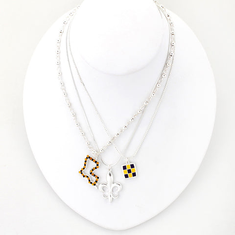 LSU Traditions Trio Necklace