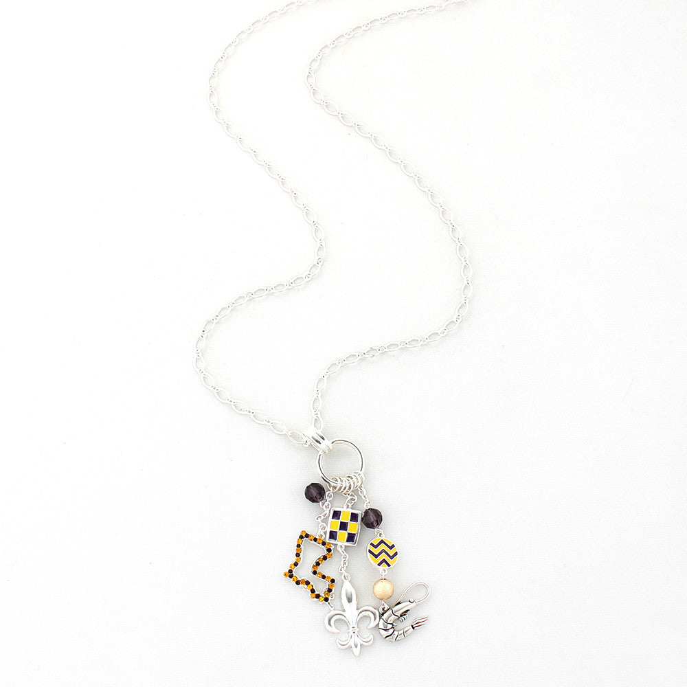 LSU Traditions Cluster Necklace