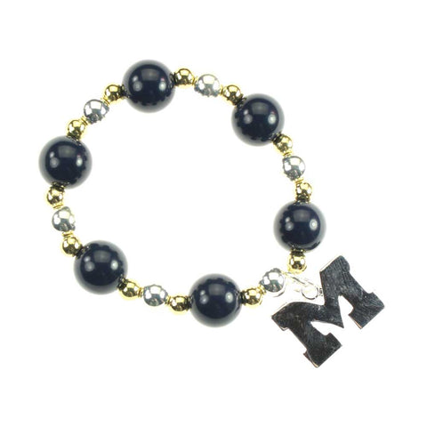 Michigan Logo Stretch Bracelet