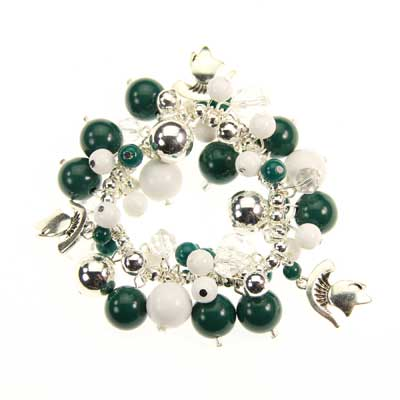 Michigan State Bauble Stretch Bracelet