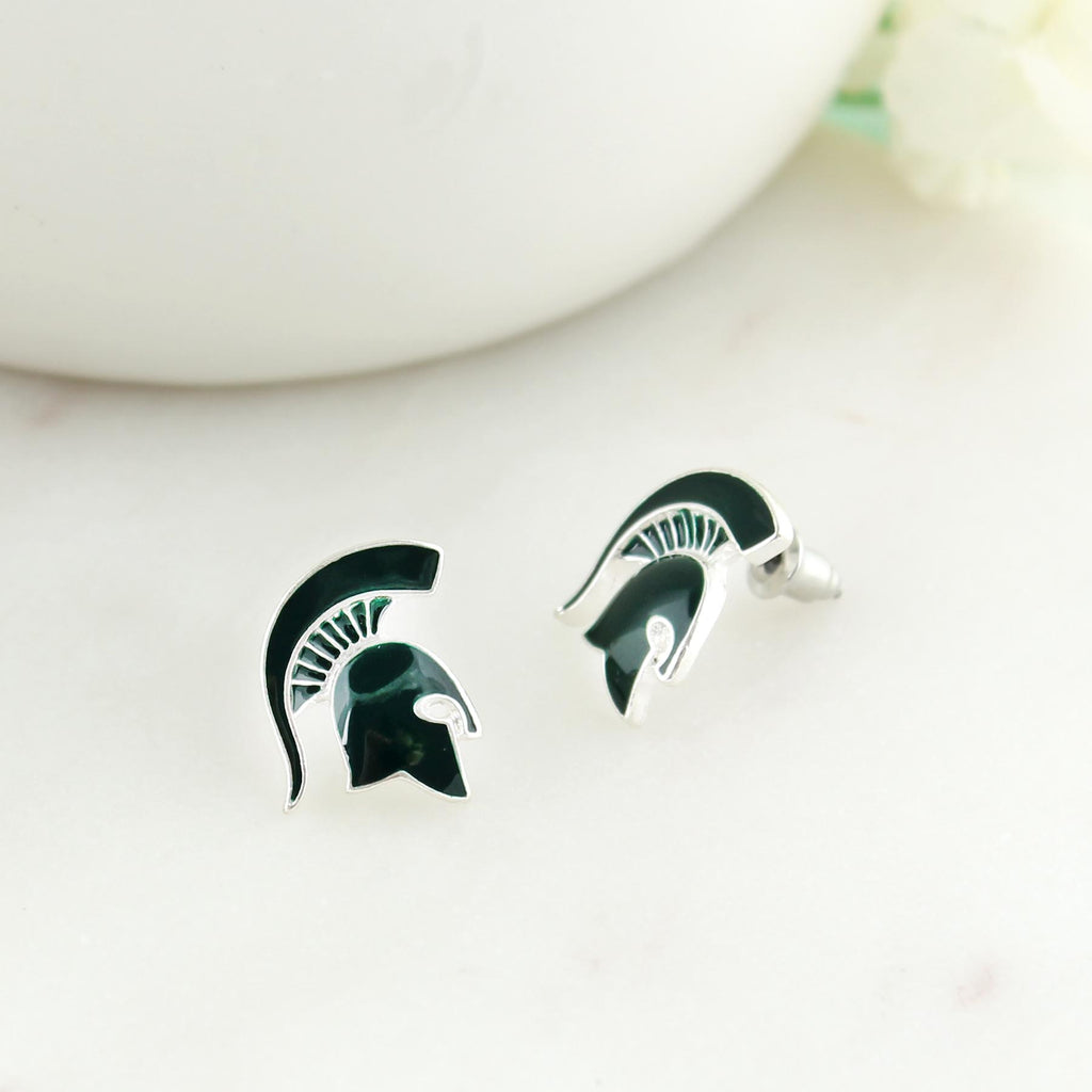 Michigan State Enamel Logo Stud Earrings
