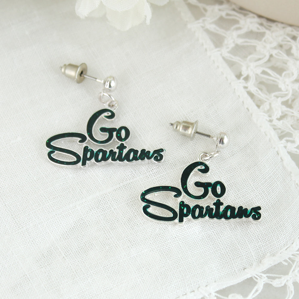 Michigan State Slogan Earrings