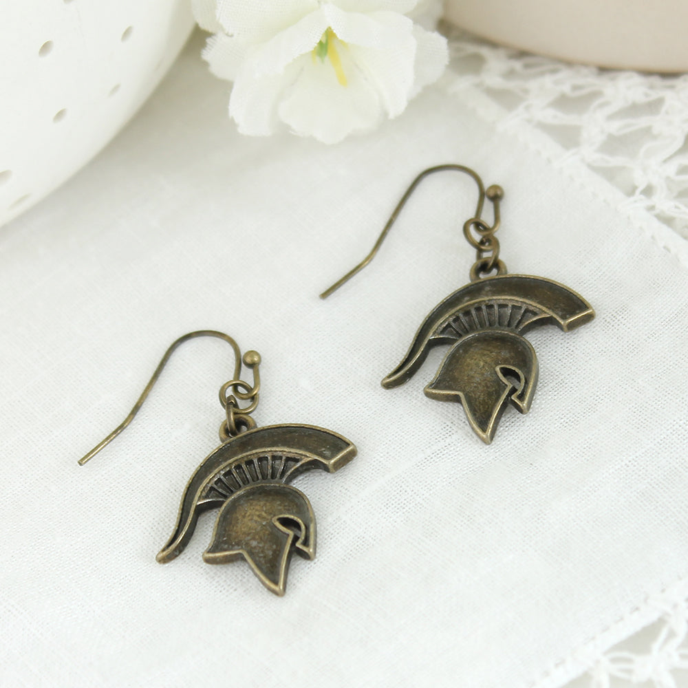 Michigan State Vintage Style Logo Earrings