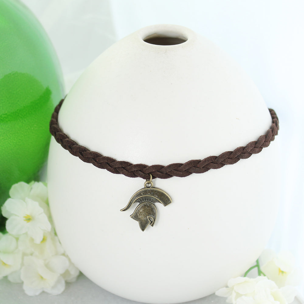 Michigan State Vintage Style Logo Braided Choker