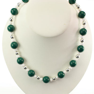 Seasons Jewelry Michigan State Beaded Stretch Necklace