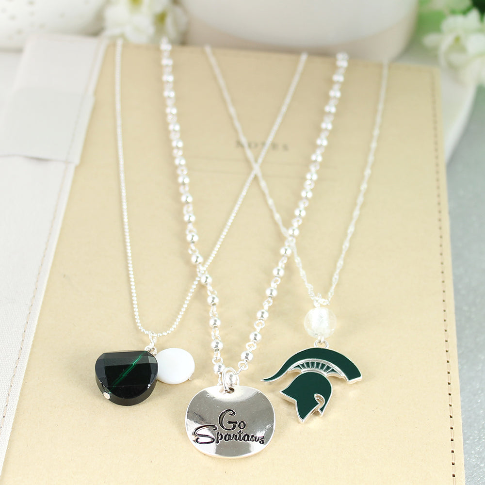 Michigan State Trio Necklace Set