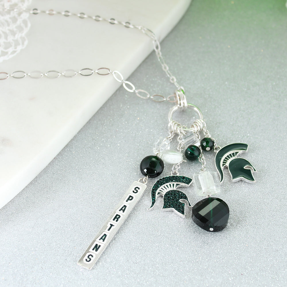 Michigan State Cluster Necklace