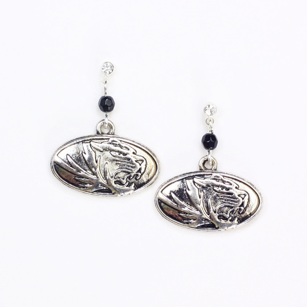 Missouri Silver Logo Post Earrings