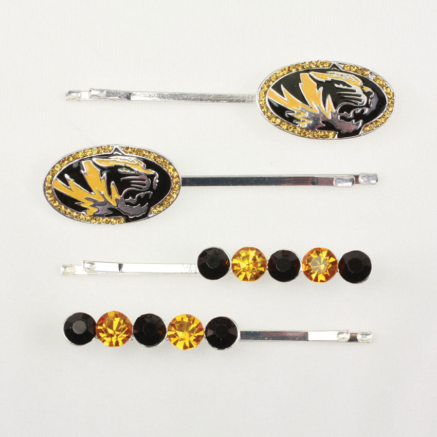 Seasons Jewelry Missouri Crystal Logo Hair Pin Set