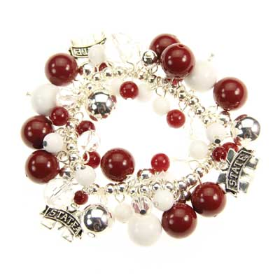 Mississippi State Bauble Stretch Bracelet
