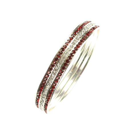 Mississippi State Crystal Bangle Bracelet