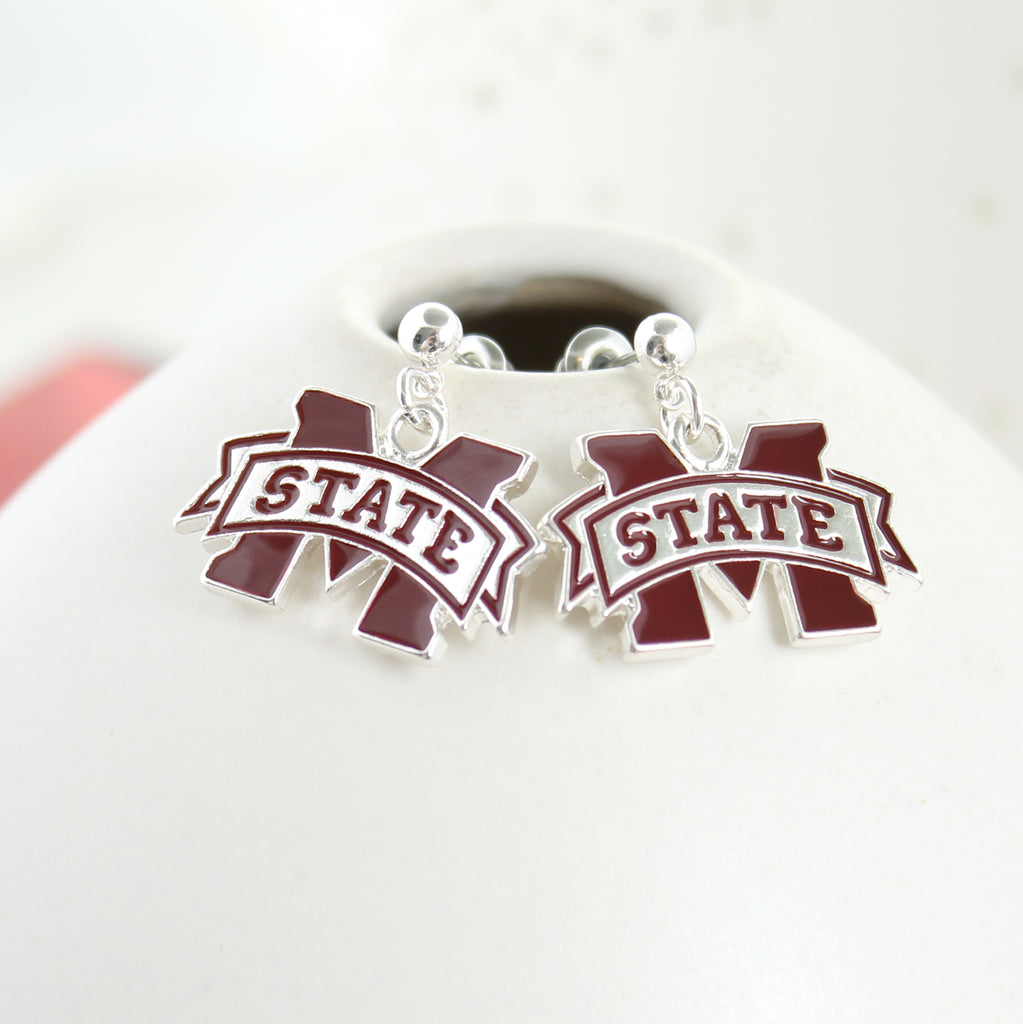 Mississippi State Enamel Logo Earrings