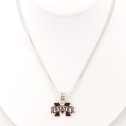 Mississippi State Enamel Logo Necklace