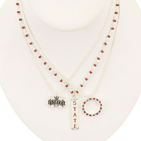 Seasons Jewelry Mississippi State Trio Necklace