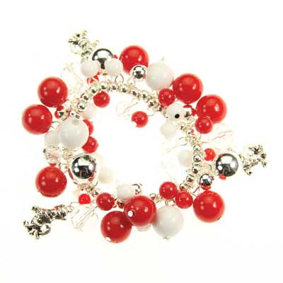 Seasons Jewelry NC State Logo Bauble Bracelet