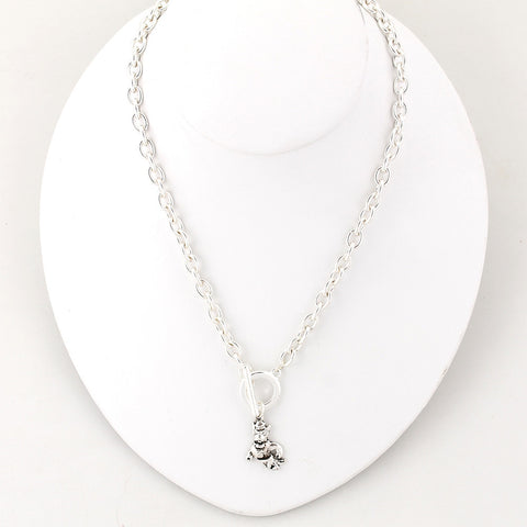 NC State Silver Logo Chain Necklace
