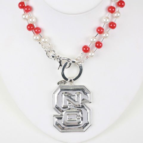 Seasons Jewelry North Carolina State Beaded Logo Necklace
