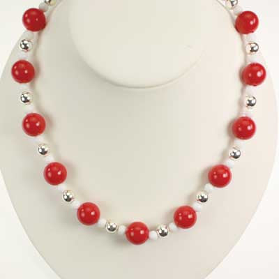 Seasons Jewelry NC State Beaded Stretch Necklace
